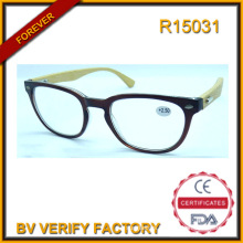 R15031 High Quality Bamboo Temple Reading Glasses