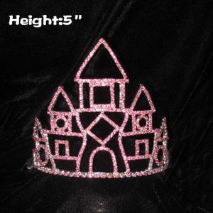 5in coroas de strass cristal castelo alice