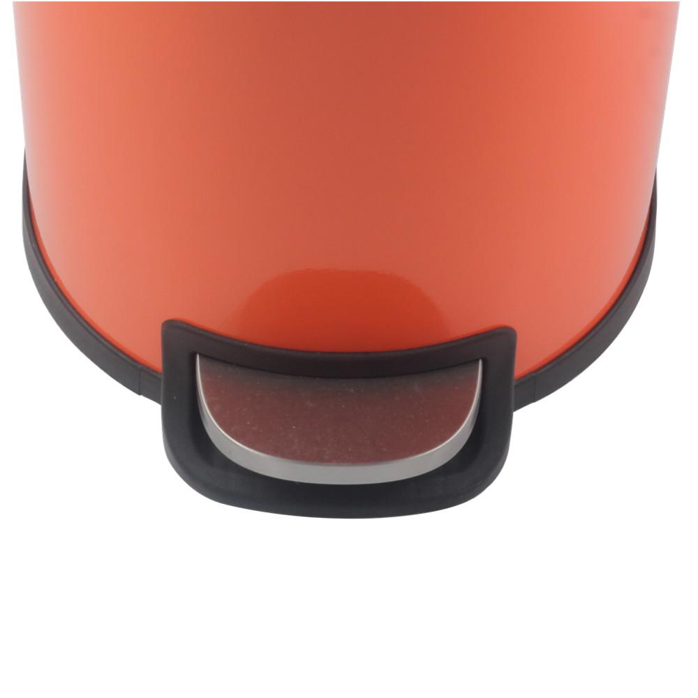 Orange Foot Pedal System Waste Bin