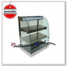 Escaparate de vidrio curvado K610 con vidrio calefactor