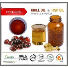 Cápsulas de cápsulas de cápsulas de cápsulas Softgel com revestimento saudável e óleo de krill antártico