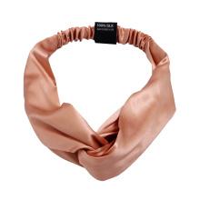 Wholesale 100% silk  designer luxury printed silk scrunchie headband