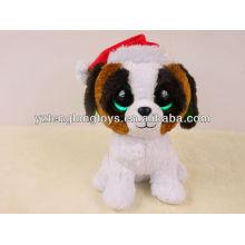 Big Eyes Stuff perro juguete para el día de Navidad