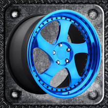 Two step lip with rivets alloy wheels