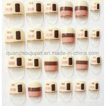 Benutzerdefinierte Mode Künstliche Nagel Schönheit Kunst Zubehör Dekoration Fingernagel Aufkleber