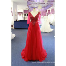 High Quality Beading Tulle A Line Evening Dress Gown
