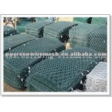 Caixa de gabião hexagonal revestida de PVC galvanizado
