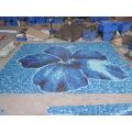 Blaue Farbe Diverse Benutzung Schwimmbad Glas Mosaik Blend, Glas Mosaiken für Schwimmbäder, Außenfassaden, Bodenbelag