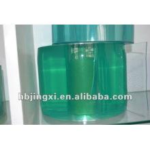 Cortina super transparente de PVC verde claro
