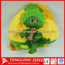 Children Birthday Gifts Cartoon Dragon shaped Plush Animal Bag