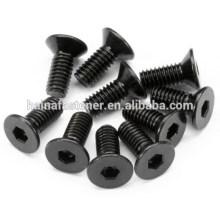 black low carbon steel hexagon socket countersunk bolt A2-70 A4-80