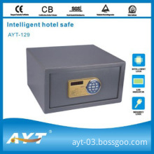 Key equipped electronic safe box for hotel