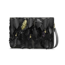 Unique Leaf Element Clutch Bag PU Shoulder Handbag Wzx1026