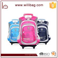 Hochwertige Rolltrolley Schultasche mit Rädern Kinder Trolley Bag