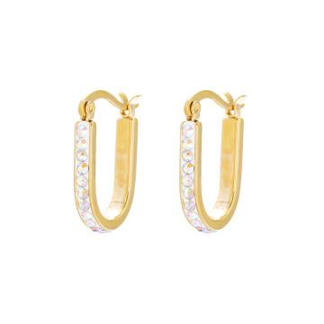 E-581 XP Fashion Simple Gold Design Jewelry Clip en pendientes con CZ sintética