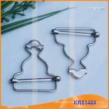 Fivela de cinto de metal e botões Gourd KR5148