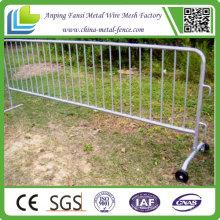 Fahrsicherheit Galvanisierter Stahl Mobile Barriere mit Rädern