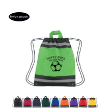 Cheap Green nylon bag with logo printed