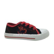 Spide Man Printing Kinder Leinwand Schuhe (X171-S & B)