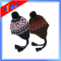 New Unisex Winter Warm Knit Ear Flap Pom Beanie Hat