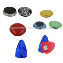 Boutons poussoirs magnétiques / aimant réfrigérateur