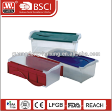 Black folding corrugated shoe box