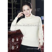 luxury women white cashmere sweater turtleneck