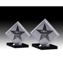 Hot sale new star shape crystal trophy