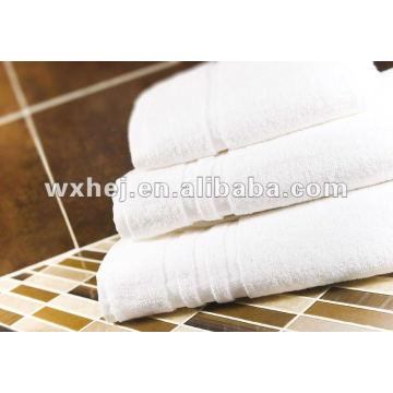 100% cotton white stripe hotel hand towel