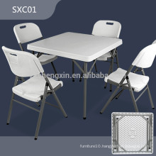 SXC01 modern outdoor portable square plastic folding table