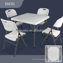 Grossista de mesa de plástico HDPE mesa de plástico dobrável