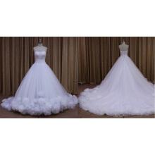Vestido de boda del tren capilla marfil marfil