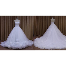 Ivory Butterfly Chapel Train Wedding Dress