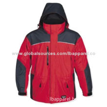Wholesale Stroller Jacket for Men, Charcoal/Red Color, Adjustable Waist
