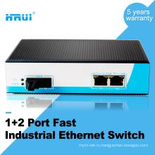 HRUI Железнодорожный промышленный 3 порт Ethernet на DIN-переключатель
