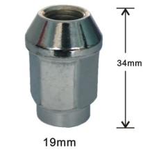 Flat 20mm hex bulge acorn alloy nuts