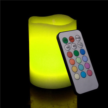 Flameless LED color changed candle