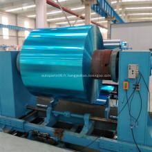 Rouleau enduit hydrophile en aluminium bleu pour climatiseur