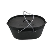 Ovale Form Gusseisen Dutch Oven
