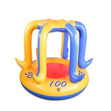 Inflatable basketball stand with water splashing function