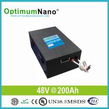 Batterie solaire d'ion au lithium 48V 200ah pour le système solaire 10kwh