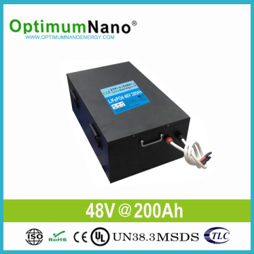 Batería de litio 48V 200ah para el sistema de energía solar 10kwh