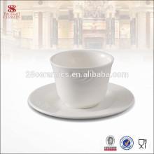 Tasses et soucoupes de thé de porcelaine de porcelaine d'os bon marché, tasse et ensemble de soucoupe