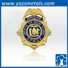 custom made high quality sergeant 3D encoding badges