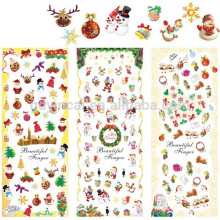 Зимний дизайн наклейки на Рождество вода наклейки передачи снежинки бантики большой лист