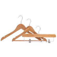 Wholesale short bamboo baby clothes hanger tops hangers