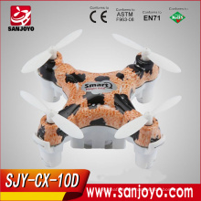 New Toy CX-10D Colorful mini Smart Q drone 2.4G remote control cheerson mini drone SJY-CX-10D