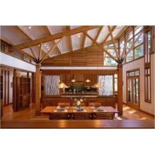 La maison en bois avec du bois de cèdre rouge