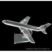 Presentes de decoração de mesa modelo de avião de cristal (JD-MX-008)