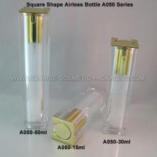 15 мл 30 мл 50 мл квадратной формы освежитель ясно безвоздушного бутылка